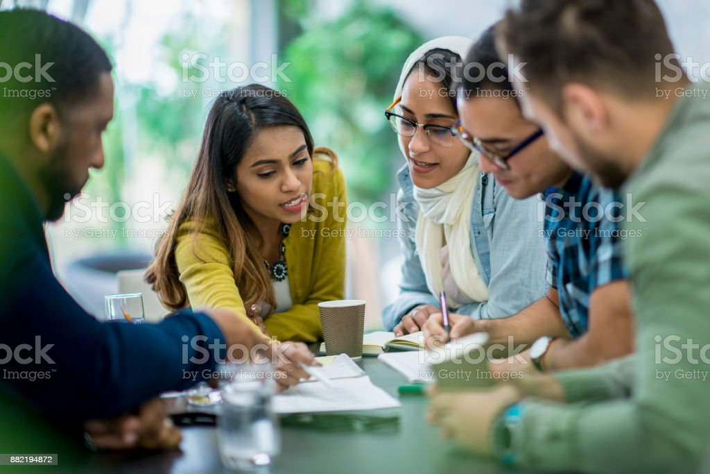 Teaching Office Workers stock photo