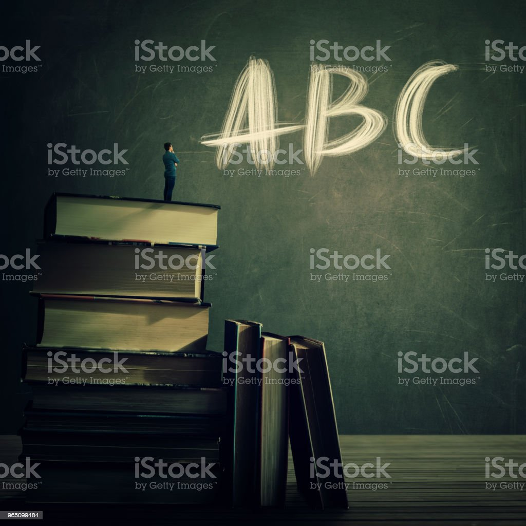 Teaching practice for kids royalty-free stock photo