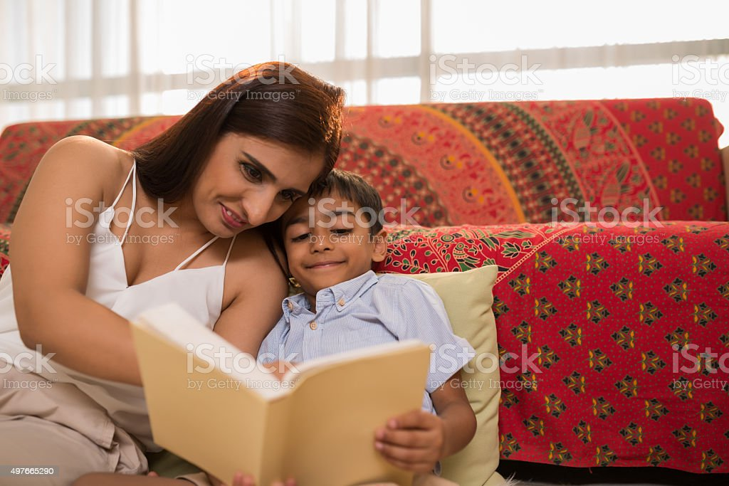 Teaching reading stock photo