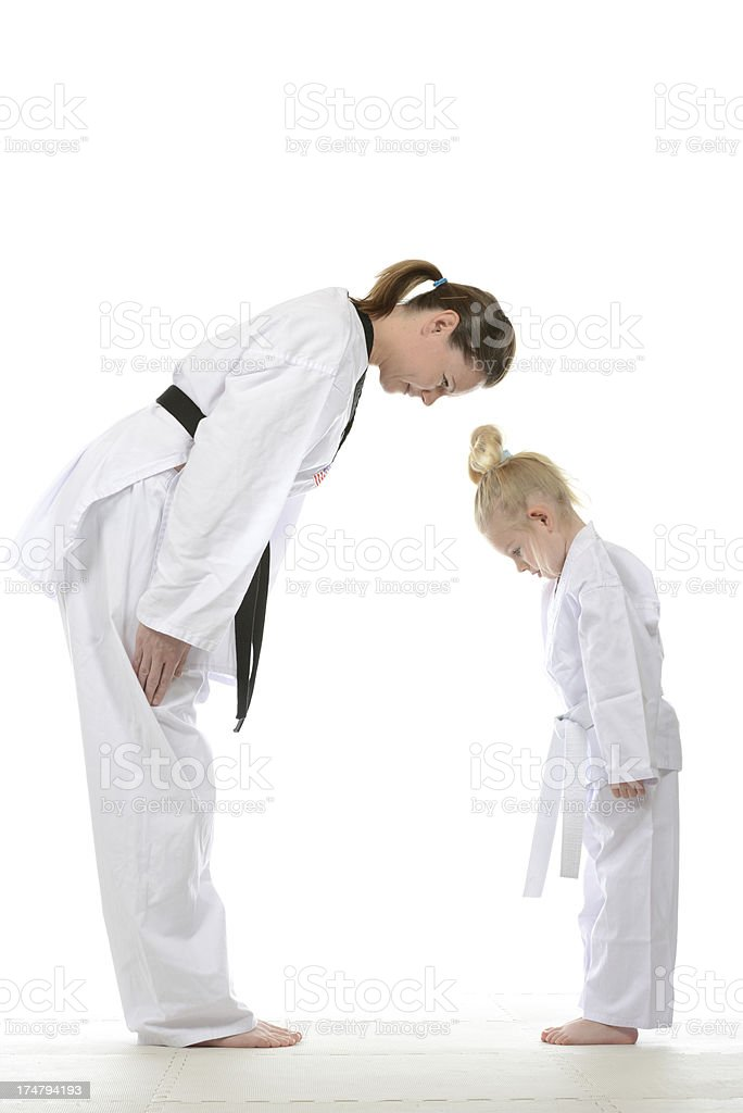 Teaching respect and tradition stock photo