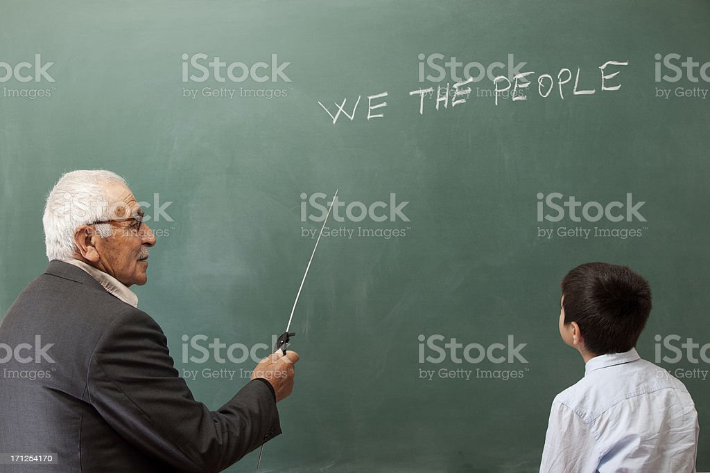 Teaching US constitution royalty-free stock photo