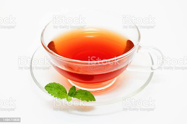 Teacup And Stevia Leaf Stock Photo - Download Image Now