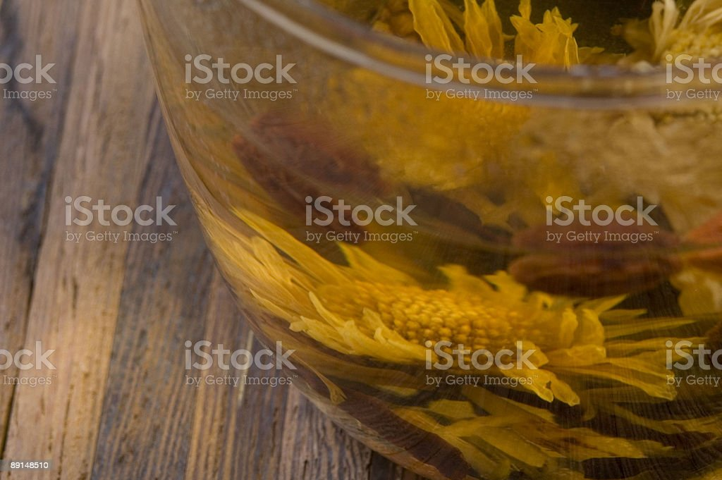 teacup with a flower tea royalty-free stock photo