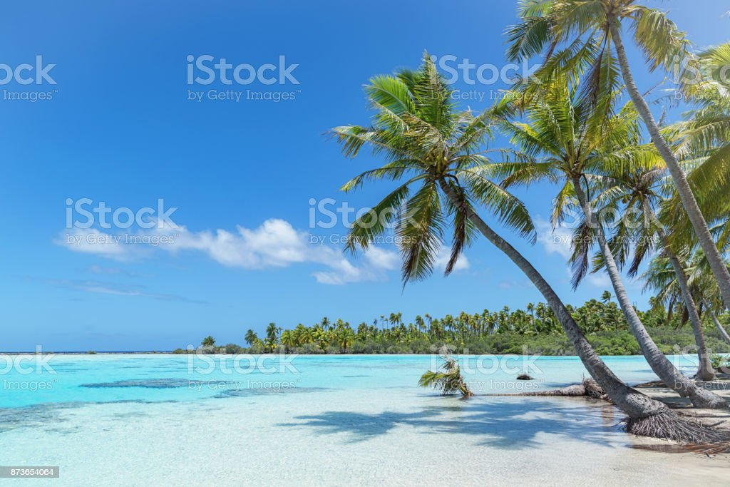 Teahatea Fakarava French Polynesia Atoll Beach stock photo