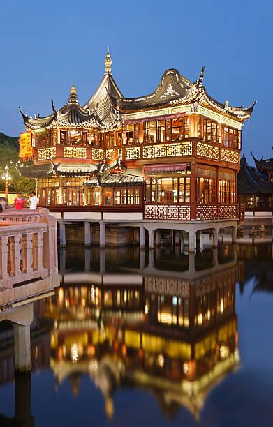 Teahouse in Yu Yuan Garden stock photo
