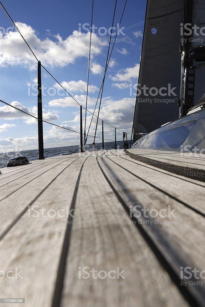 teak deck royalty-free stock photo