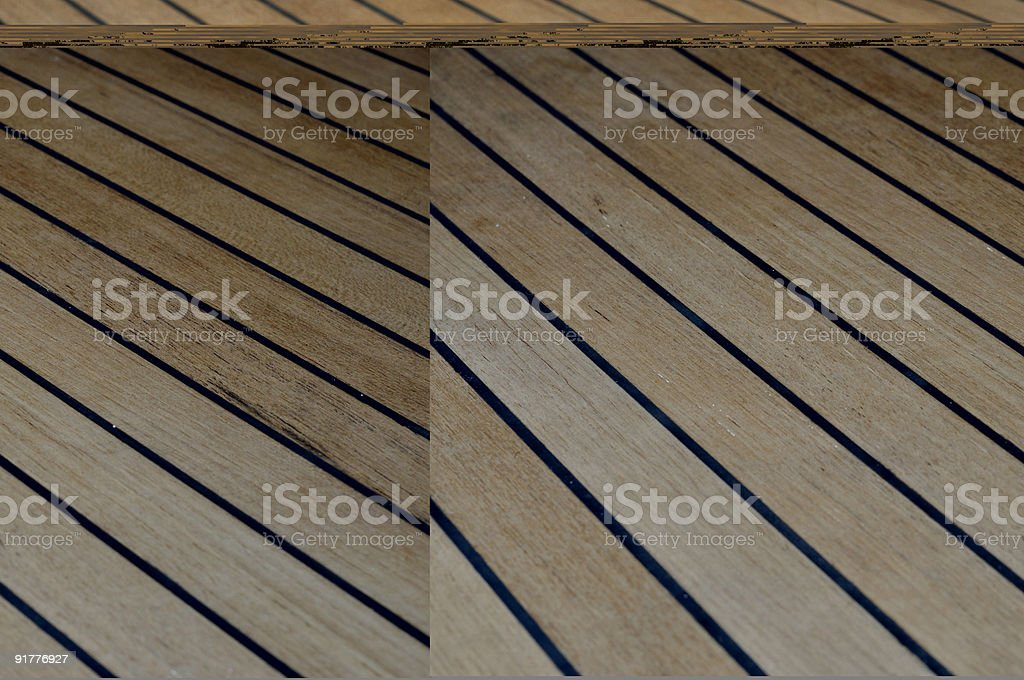 teak deck royalty-free stock photo