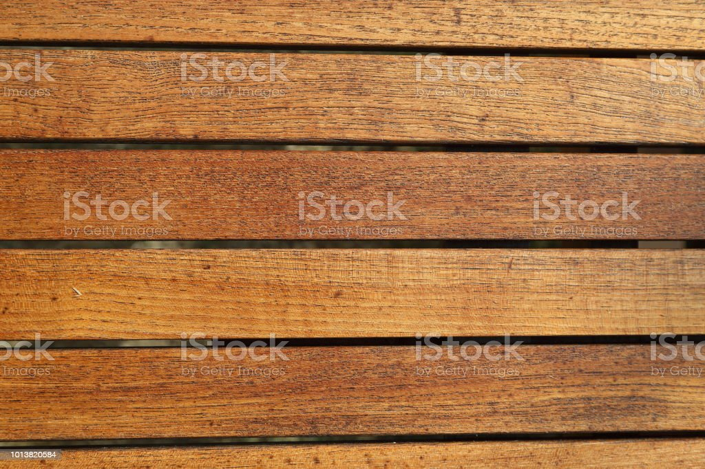 Teak sticks table top stock photo