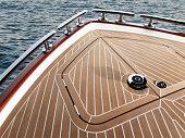 Teak wood on boat, texture