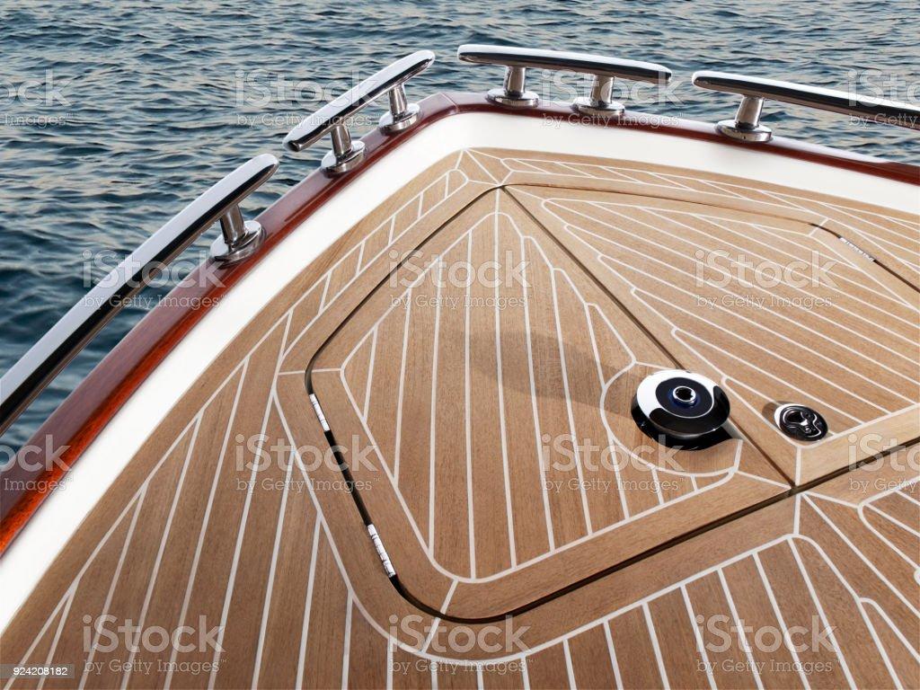 Teak Wood On Boat, Texture Stock Photo