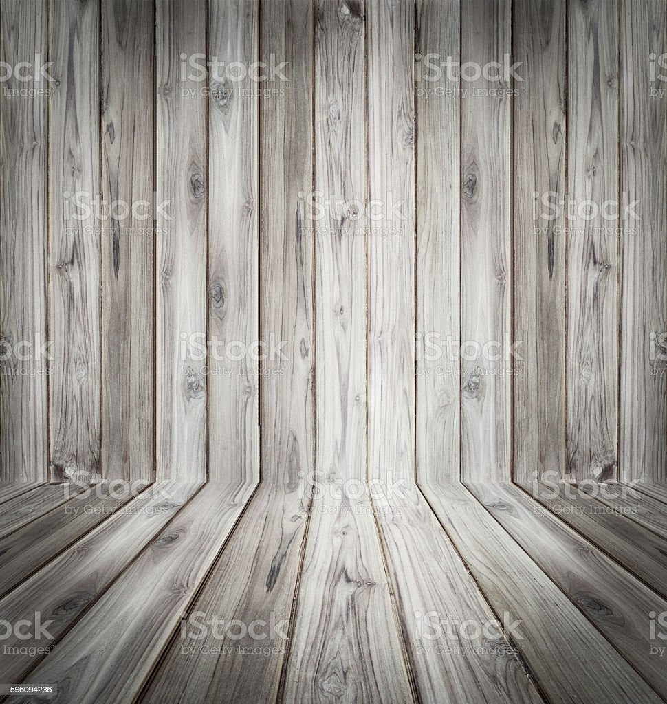 Teak wood plank texture background perspective black and white. Lizenzfreies stock-foto