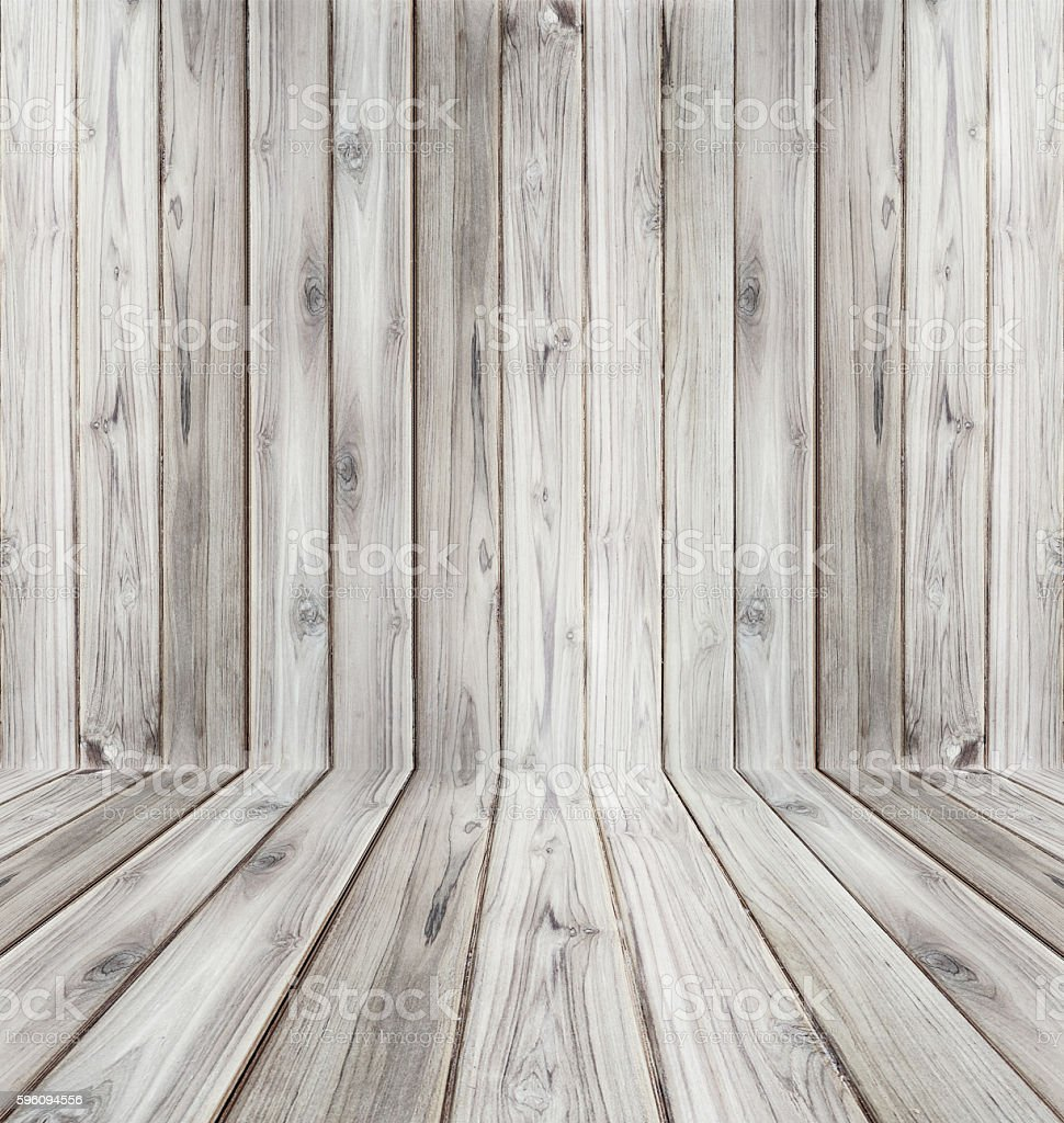 Teak wood plank texture background perspective black and white. royalty-free stock photo