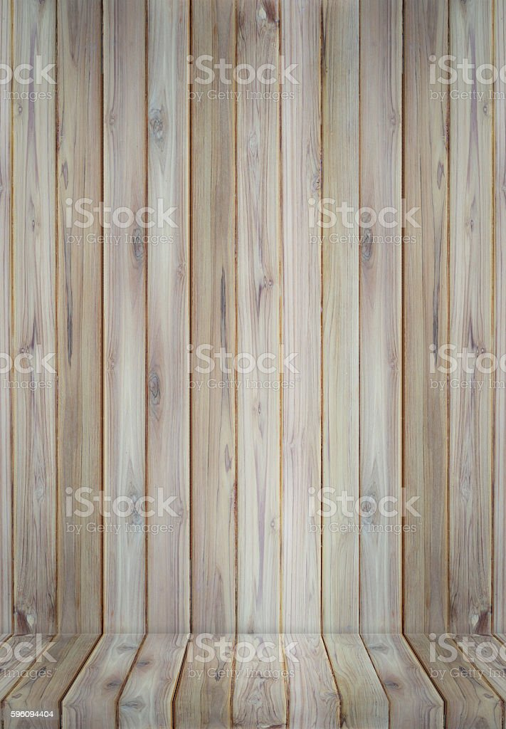 Teak wood plank texture background perspective. Lizenzfreies stock-foto