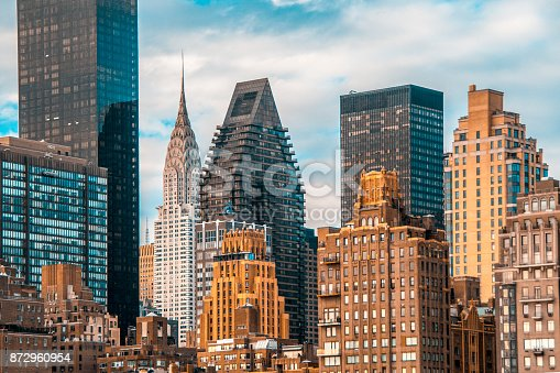 istock Teal and orange mood of Manhattan and East river 872960954