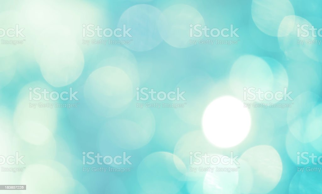 Teal and white abstract defocused light background stock photo