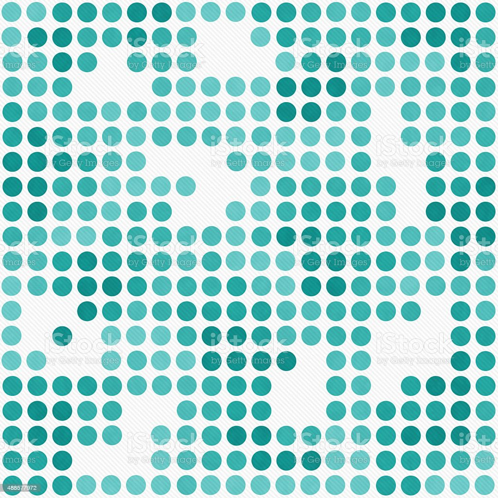 Teal And White Polka Dot Mosaic Tile Pattern Background stock photo ...
