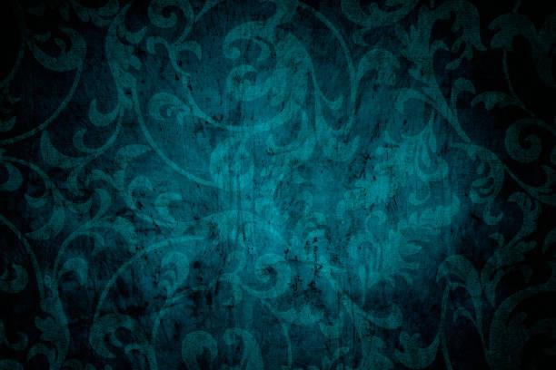 fond victorien bleu sarcelle - gothique photos et images de collection