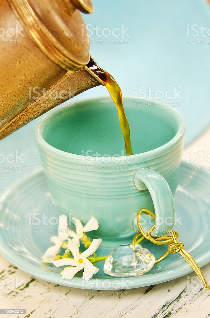 Teal Coffee royalty-free stock photo