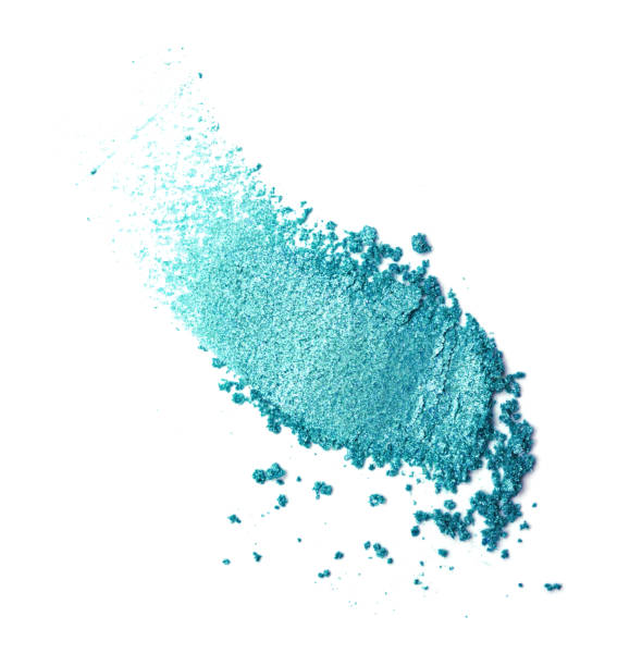 teal eye shadow - blue powder stock photos and pictures