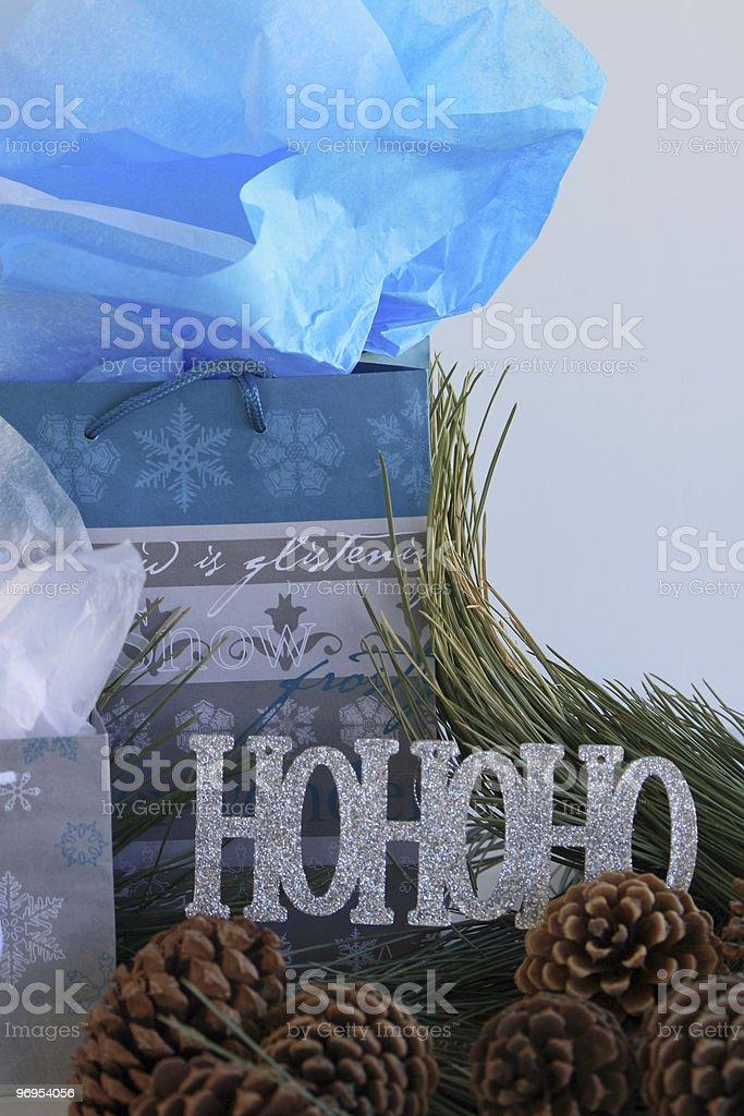 Teal Gift Bag royalty-free stock photo