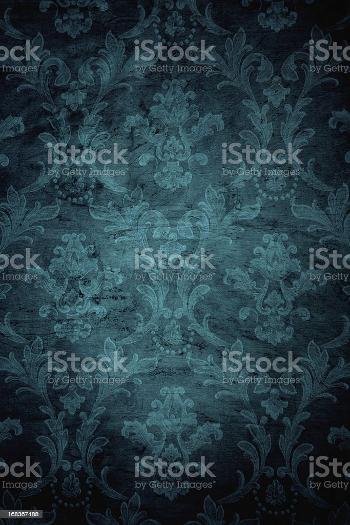 Teal Grunge Victorian Background stock photo