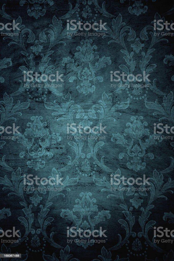 Cerceta Grunge fondo estilo victoriano - foto de stock