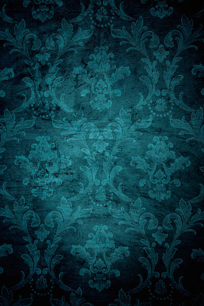 teal grunge victorian background - baroque stock photos and pictures