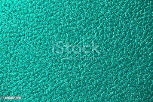 Teal Leather Artificial Background Pearl Shiny Ombre Mint Green Blue Skin Fake Texture Bumpy Pattern Copy Space Design template for presentation, flyer, card, poster, brochure, banner