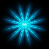 istock Teal mandala smooth spread of ink explosion, kaleidoscopic background. Beautiful multicolor kaleidoscope texture. Movement geometric circle and star shapes. Glowing mandala artwork 3d illustration 1295823519