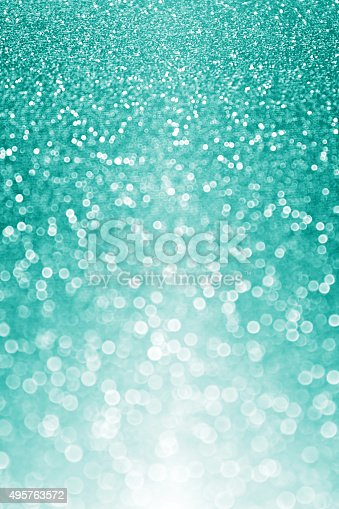 teal or turquoise glitter sparkle background stock photo