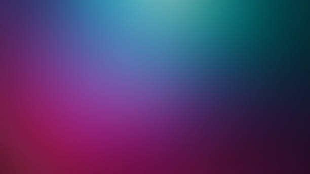 Teal, Pink and Dark Blue Defocused Blurred Motion Gradient Abstract Background stock photo