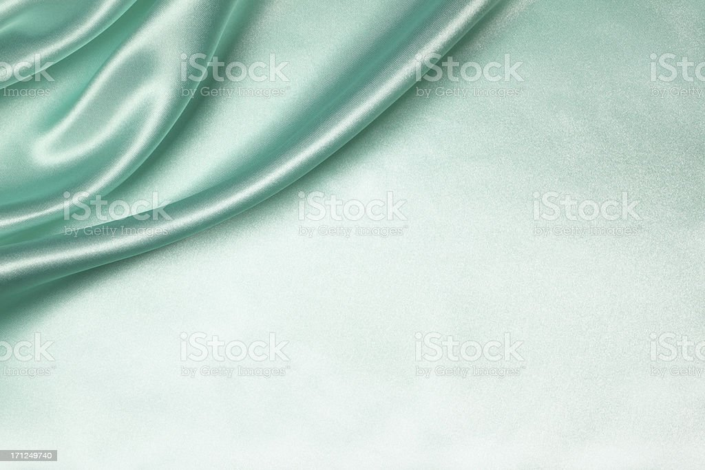 Teal Silk Background stock photo