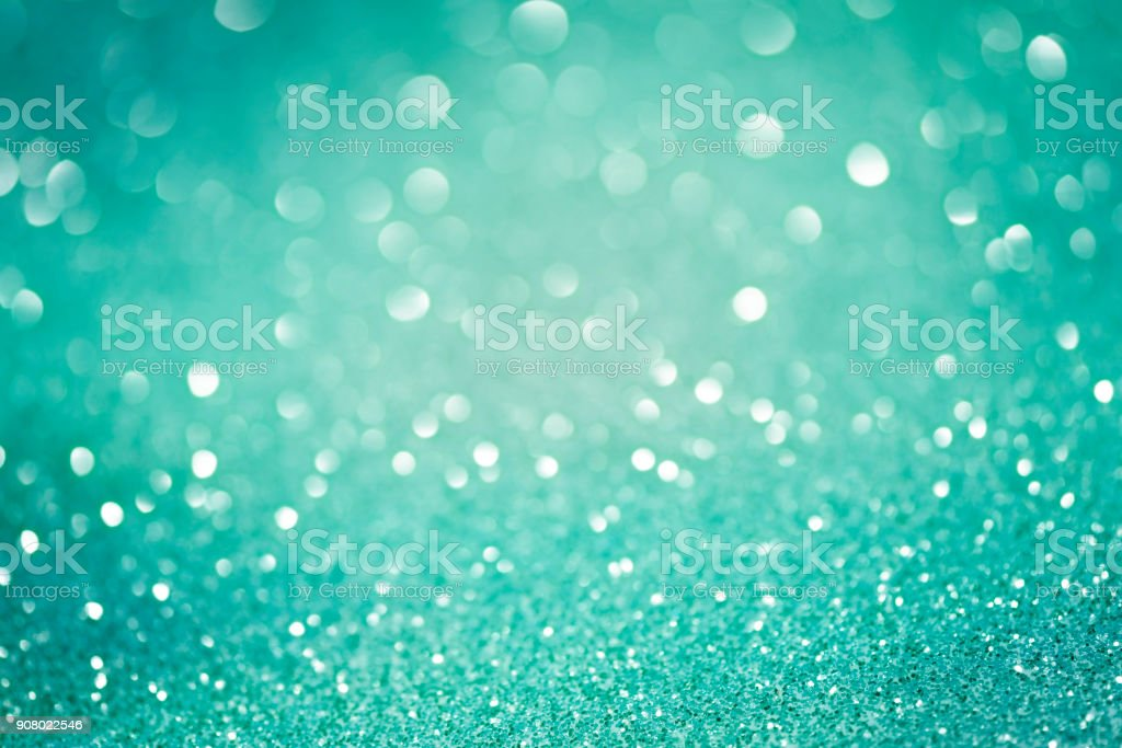 Teal Turquoise Aqua Green Glitter Texture stock photo