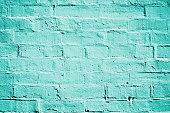 ティールのターコイズれんが壁の質感