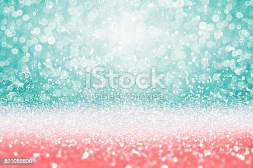 istock Teal Turquoise glitter diamond background 821088806