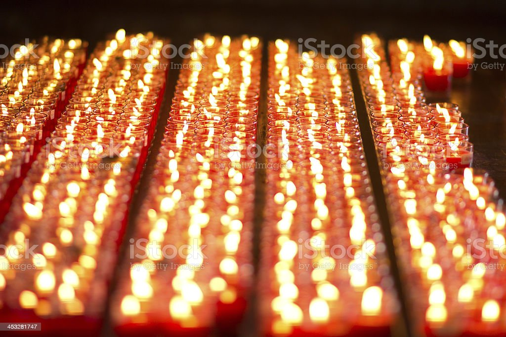 Tealight candles royalty-free stock photo