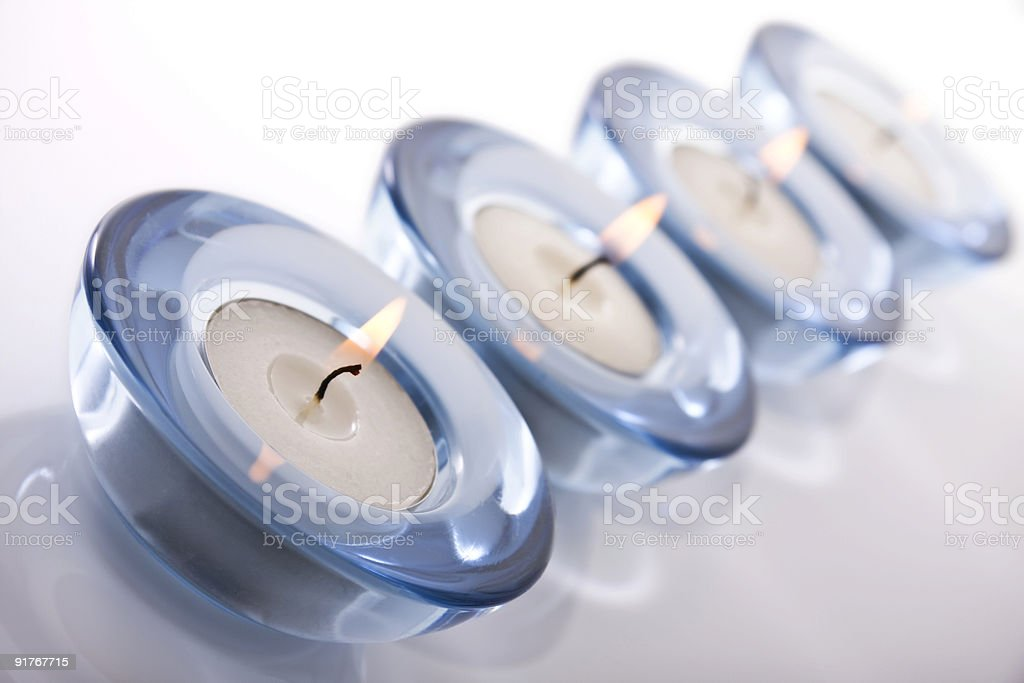 Tealight candles stock photo