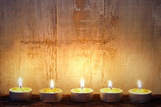 tealights stock photo