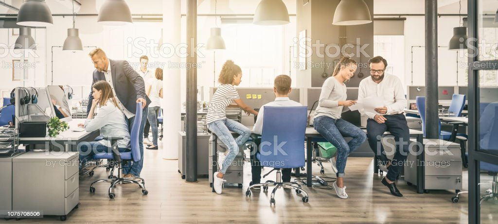 Team at work concept. stock photo