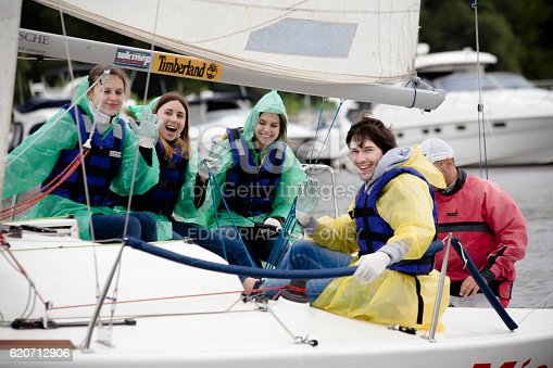 1011210354 istock photo Team athletes participating in the sailing competition 620712906