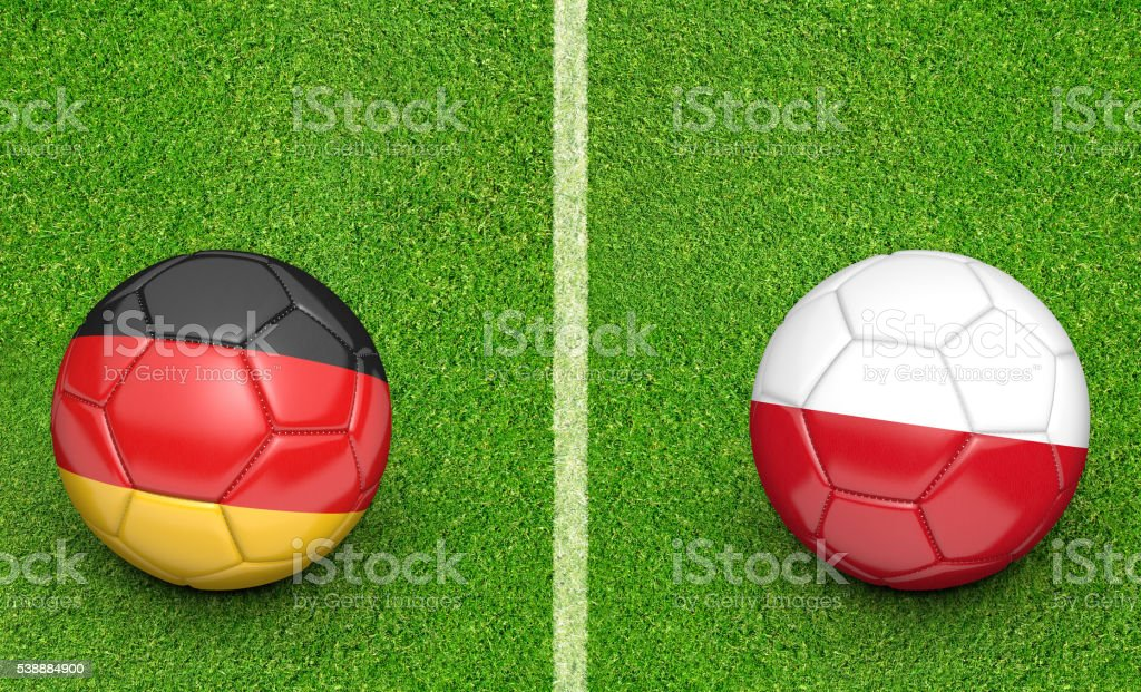 Team Balls For Germany Vs Poland Football Tournament Match Stock Photo &  More Pictures of American Football - Ball