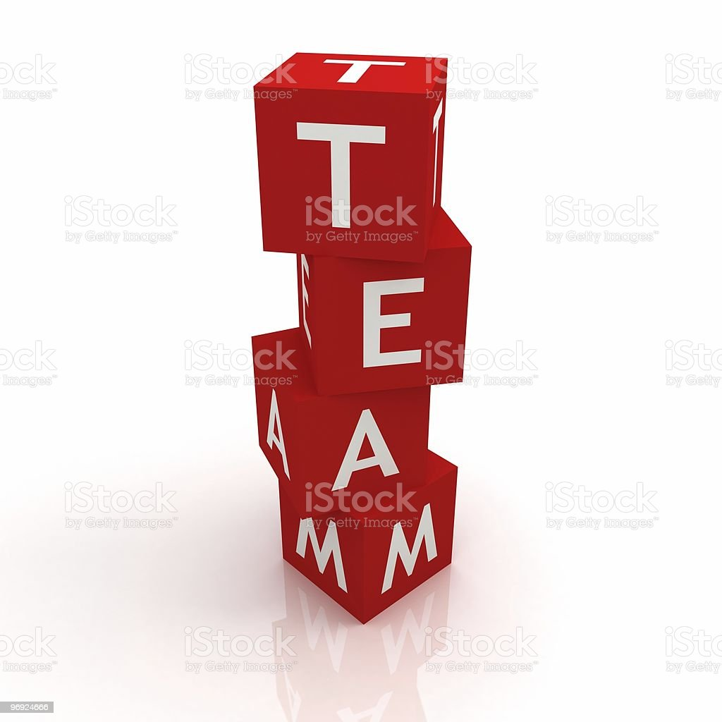 Team Blocks Concept royalty-free stock photo
