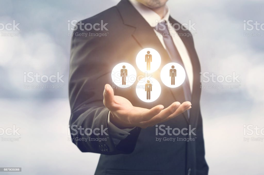 Team building concepts, Customers care stock photo