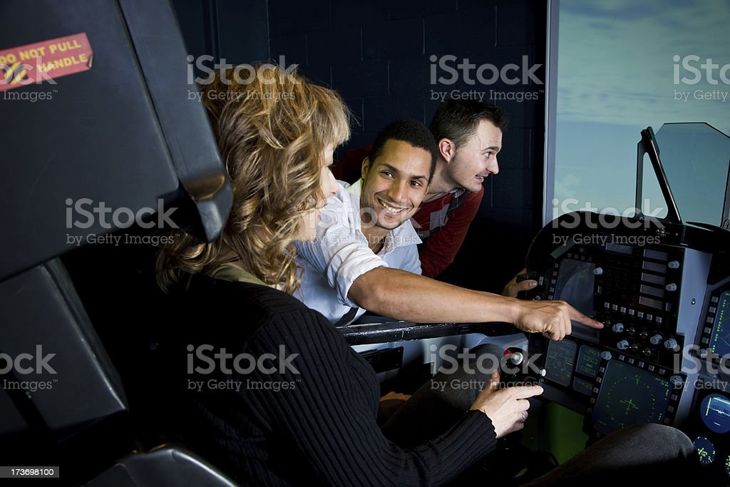 Team building excercise royalty-free stock photo
