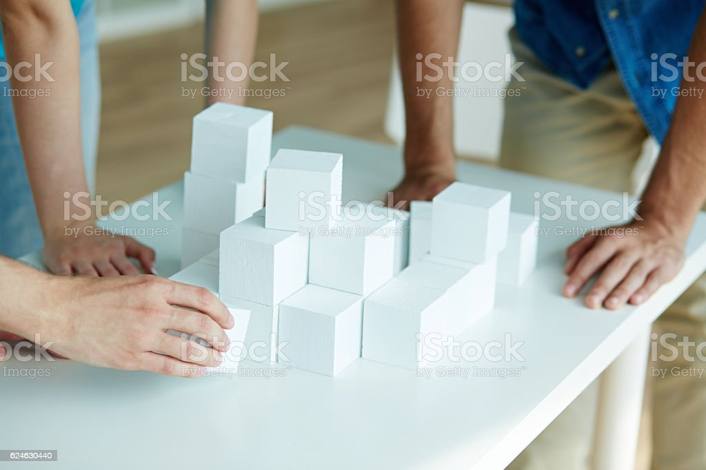 Team building game stock photo