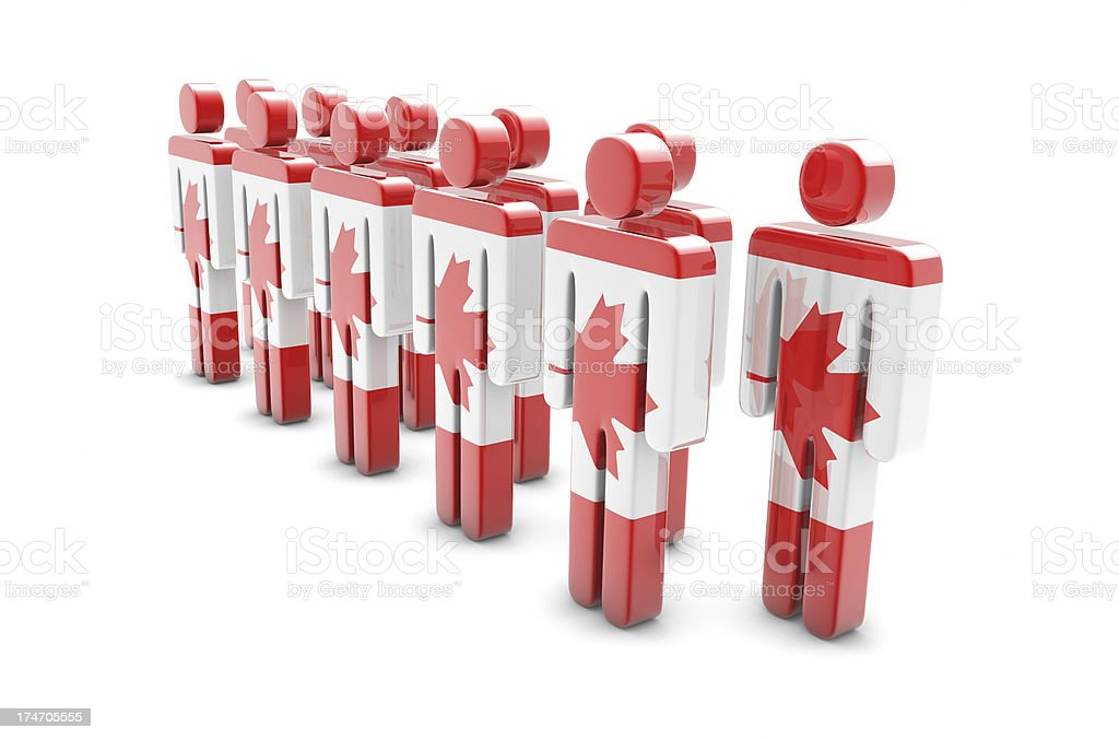 Team Canada royalty-free stock photo