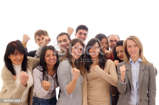 istock Team Celebrating Success.Isolated. 184982483