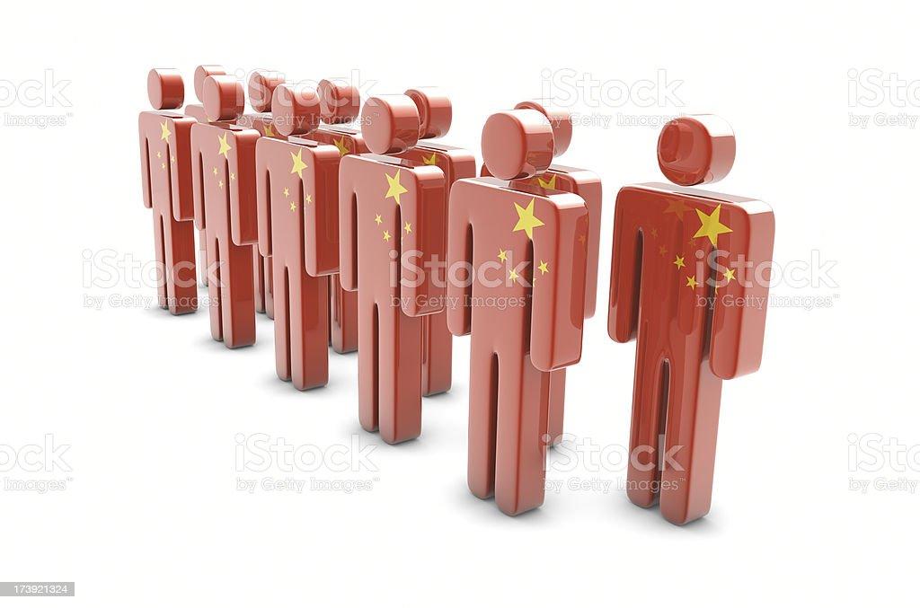 Team China stock photo