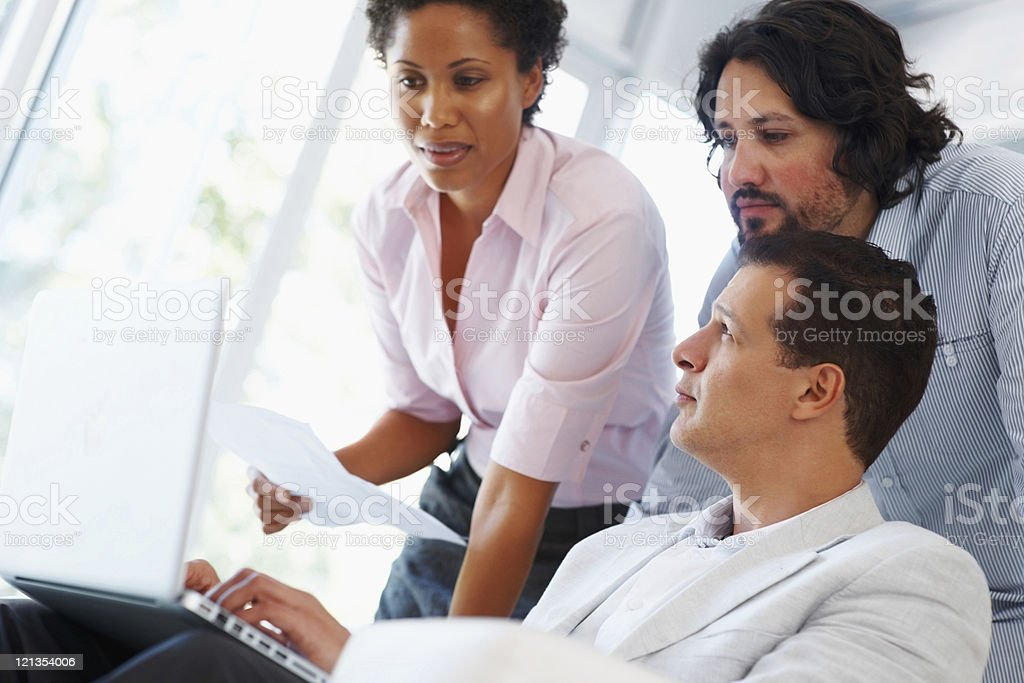 Team concentrating on work royalty-free stock photo