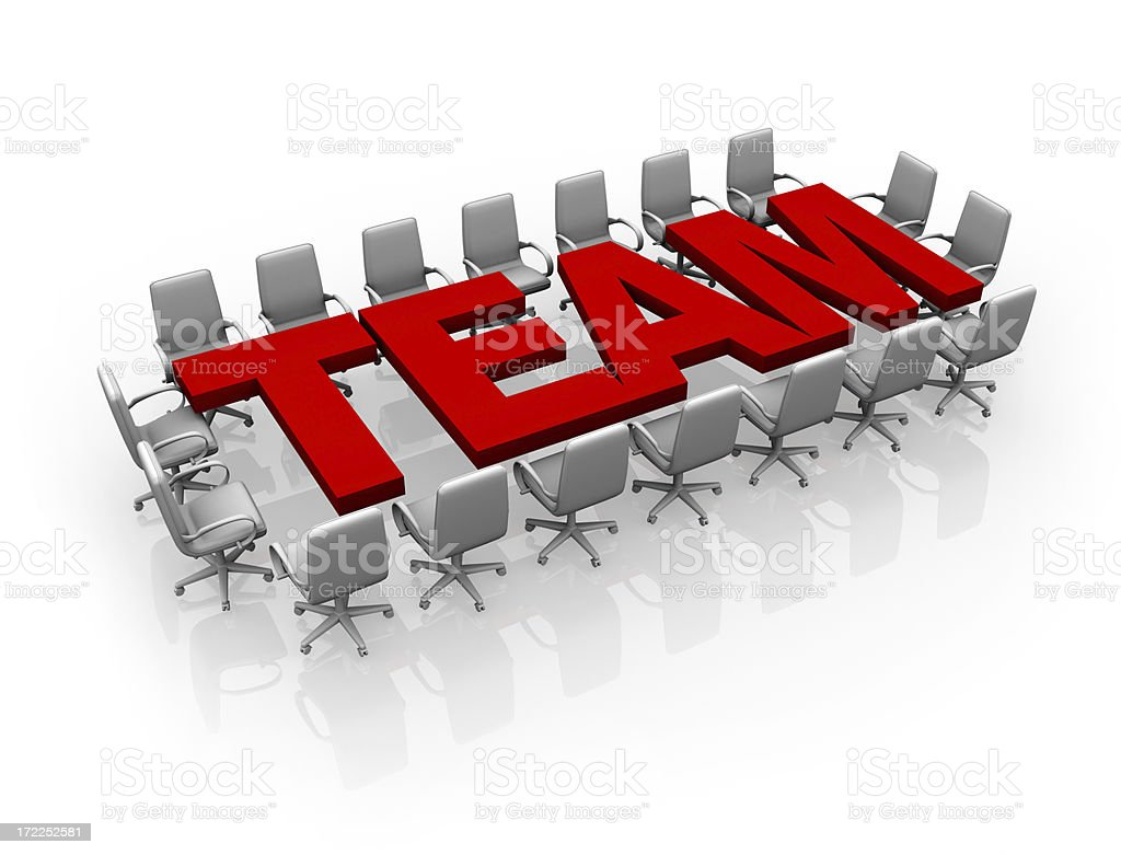 Team conference - concept royalty-free stock photo